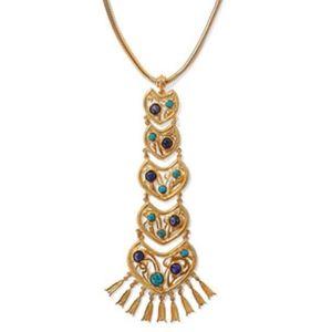 BEN-AMUN Gold-tone stone necklace NWT